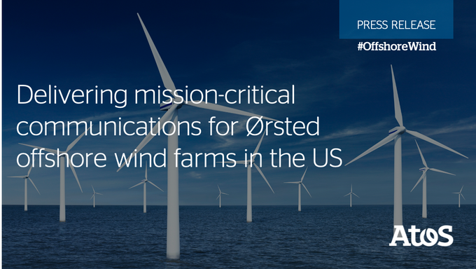 Atos is selected by @Orsted, a global & sustainable leader in #offshorewind, to implement...