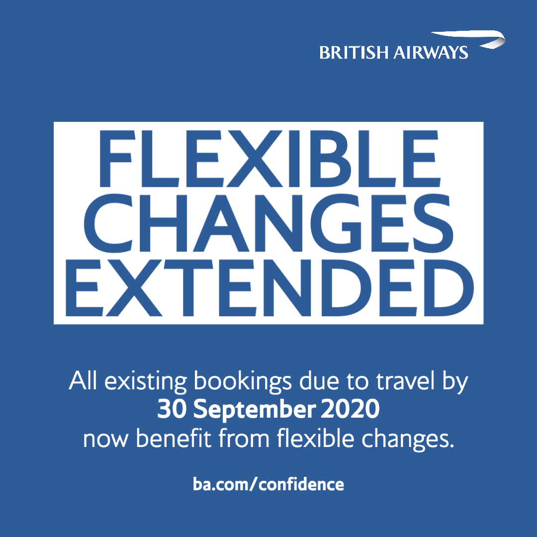 Our flexible change policy has been extended to cover all customers due to travel until 30 September 2020. To find out more about exchanging your booking for a voucher and changing your travel plans due to the ongoing #COVID19 uncertainty, visit https://t.co/OvVGSRdIO4 https://t.co/X1jONqXOgP