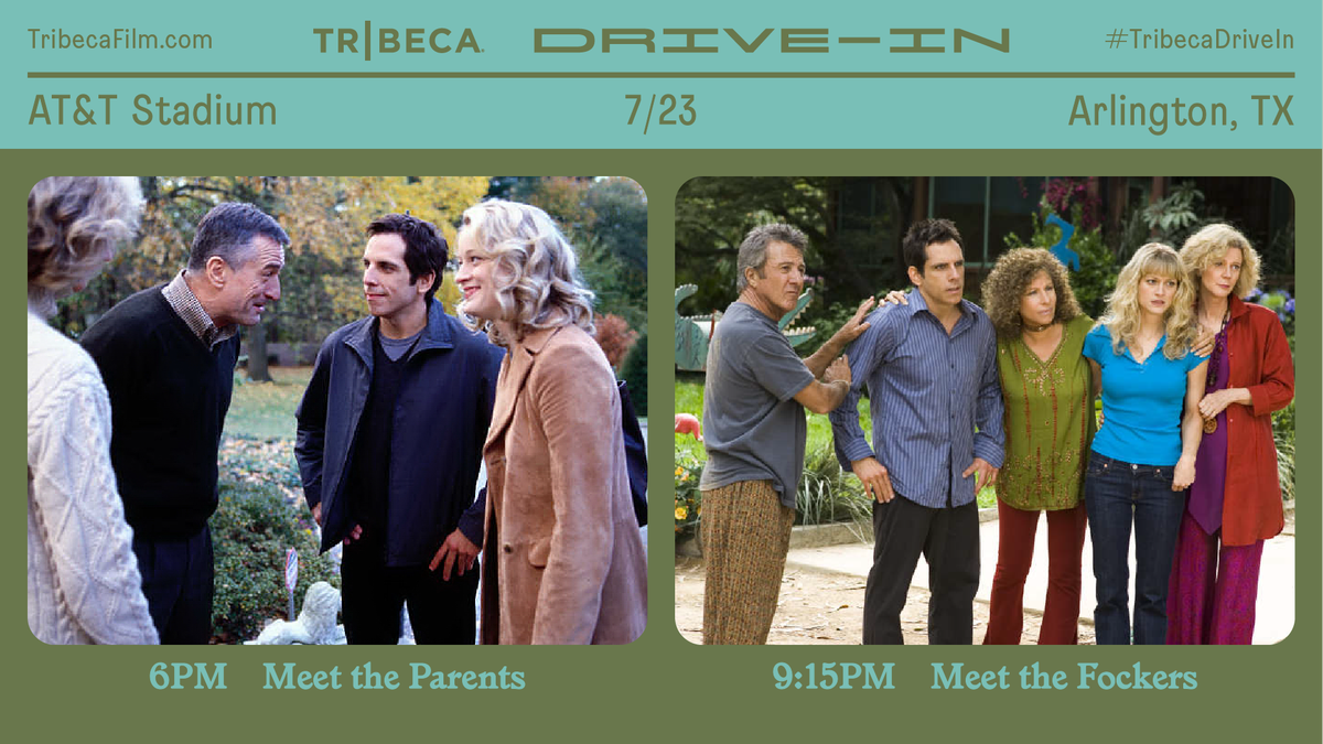 The @Tribeca Drive-In is bringing the big screen to your backyard this summer through a shared cinematic experience. Enjoy 30+ iconic summer blockbusters, every weekend in July, outside #ATTStadium. Tickets are limited — get yours at TribecaFilm.com #TribecaDriveIn