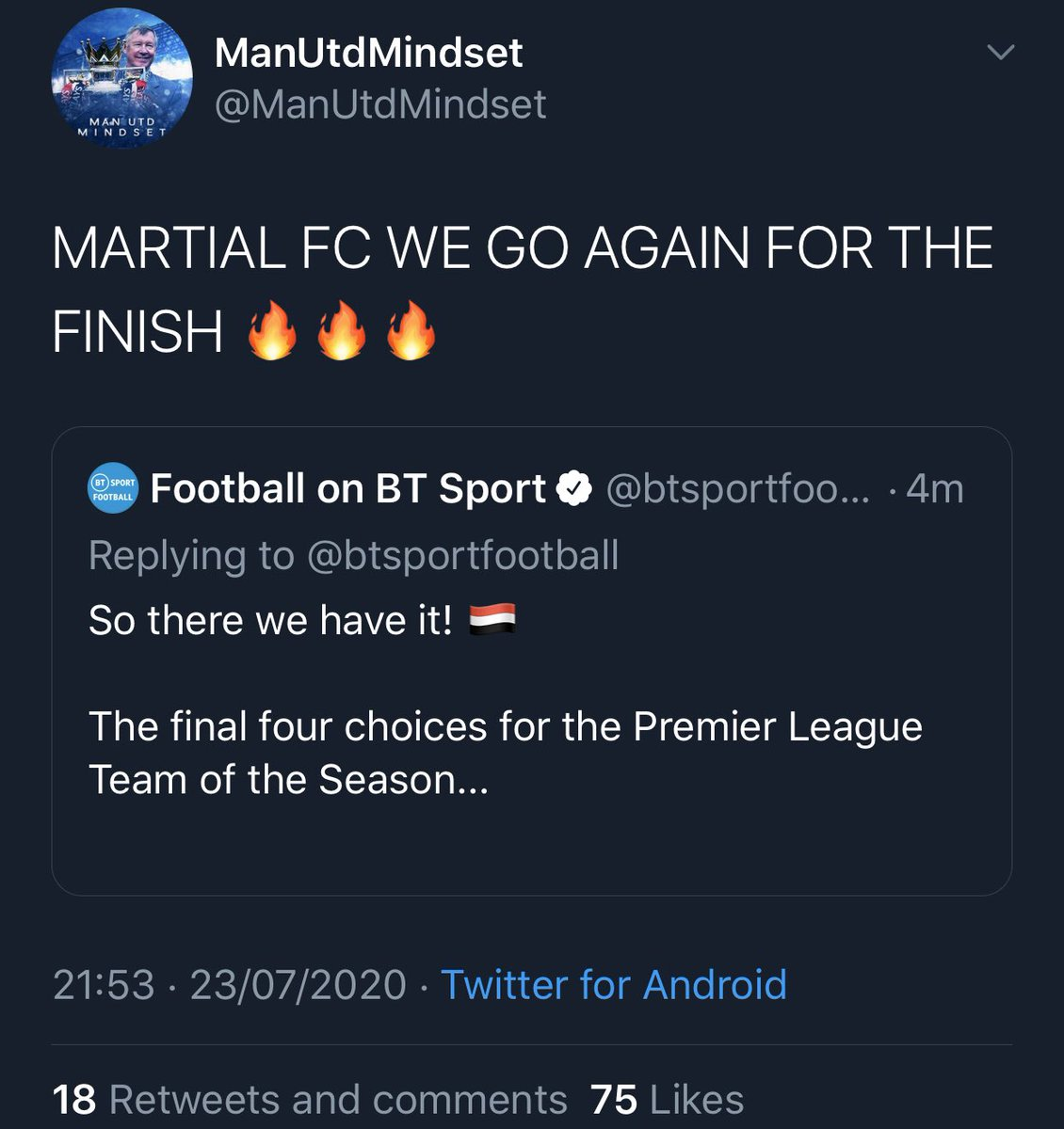 BT Sport seeing @ManUtdMindset interfering with yet another vote... https://t.co/6GfMrEz7Bl