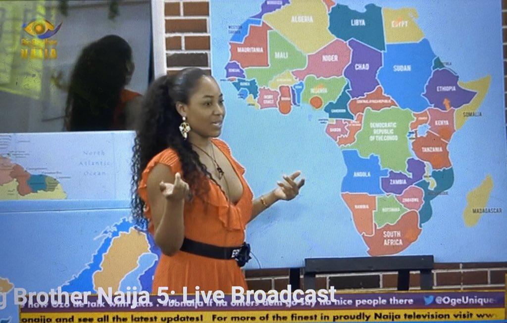 Erica has been to:  Niger state Lagos Abuja Oyo Cross River  Enugu Dubai France Italy Greece  United Kingdom  Spain  Germany  Turkey   #Bbnaija #BetwayGameOnpic.twitter.com/VNpWaT1Jc4