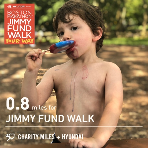 0.8 @CharityMiles for @TheJimmyFund. #JimmyFundWalk