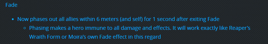 MOIRA FADE NOW FADES ALL ALLIES FOR 1 SECOND??? WHO IS BALANCING THIS GAME LOL THERE'S JUST NO WAY https://t.co/3XO3u1XFkA