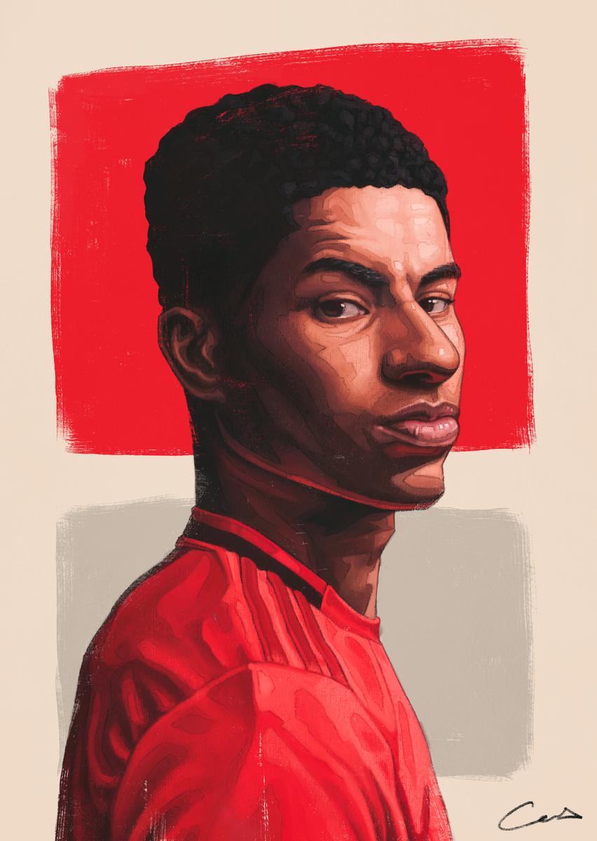 Cas On Twitter Marcus Rashford Digital Painting