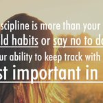 """Image for the Tweet beginning: """"Self-discipline is more than your"""