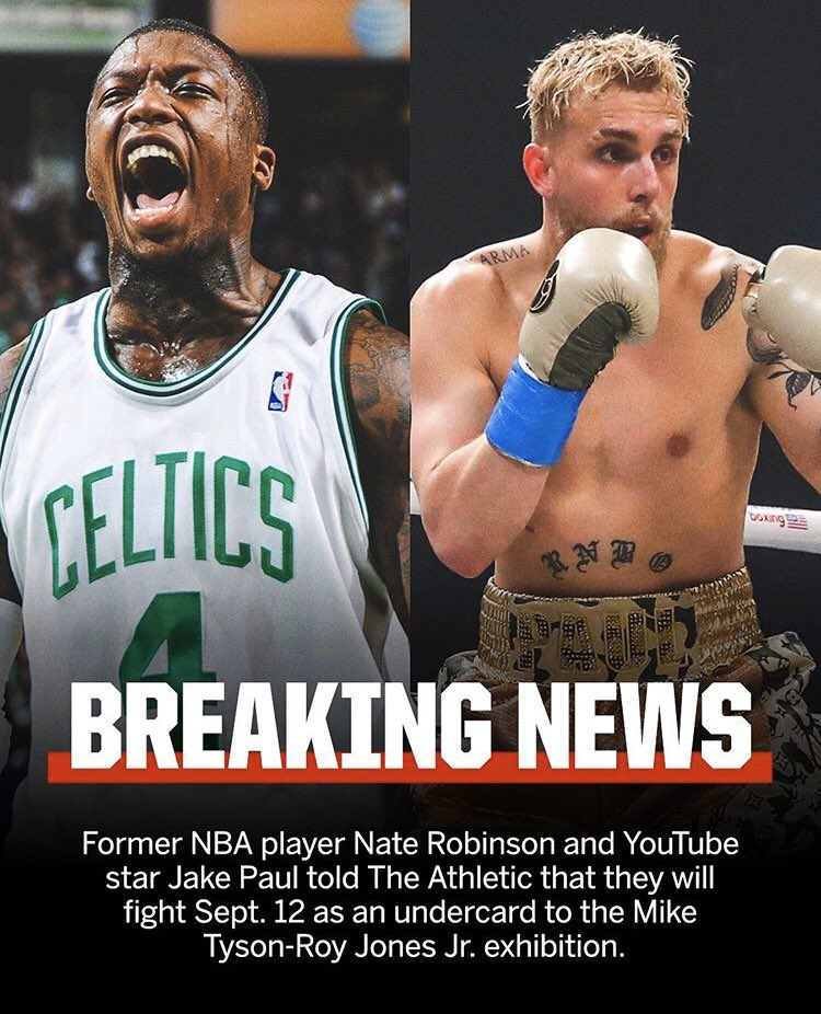 Youtube Boxing On Twitter Jake Paul Vs Nate Robinson Is Officially Announced