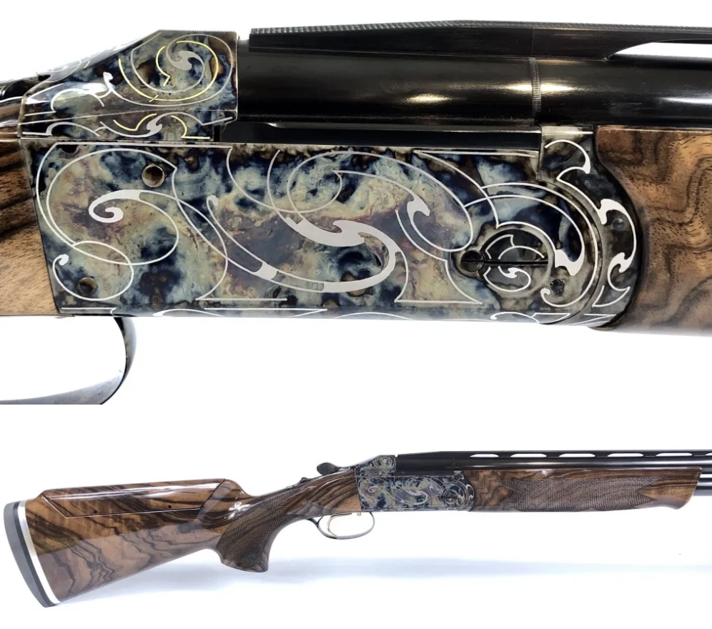 This new Krieghoff K-80 32″ Sporting, Custom Gold and Silver Scroll, Color Case Hardened is now available. Our in-house Factory Authorized Gunsmith can customize the barrel/stock configuration to your specifications. Email pam@alamosportingarms.com today to inquire. pic.twitter.com/Y1bziGYDo8