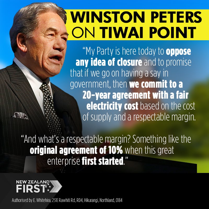 "Winston Peters on Twitter: ""We are here to save Tiwai Point. We oppose any  idea of closure...… """