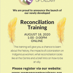 Image for the Tweet beginning: Please join our Reconciliation Training
