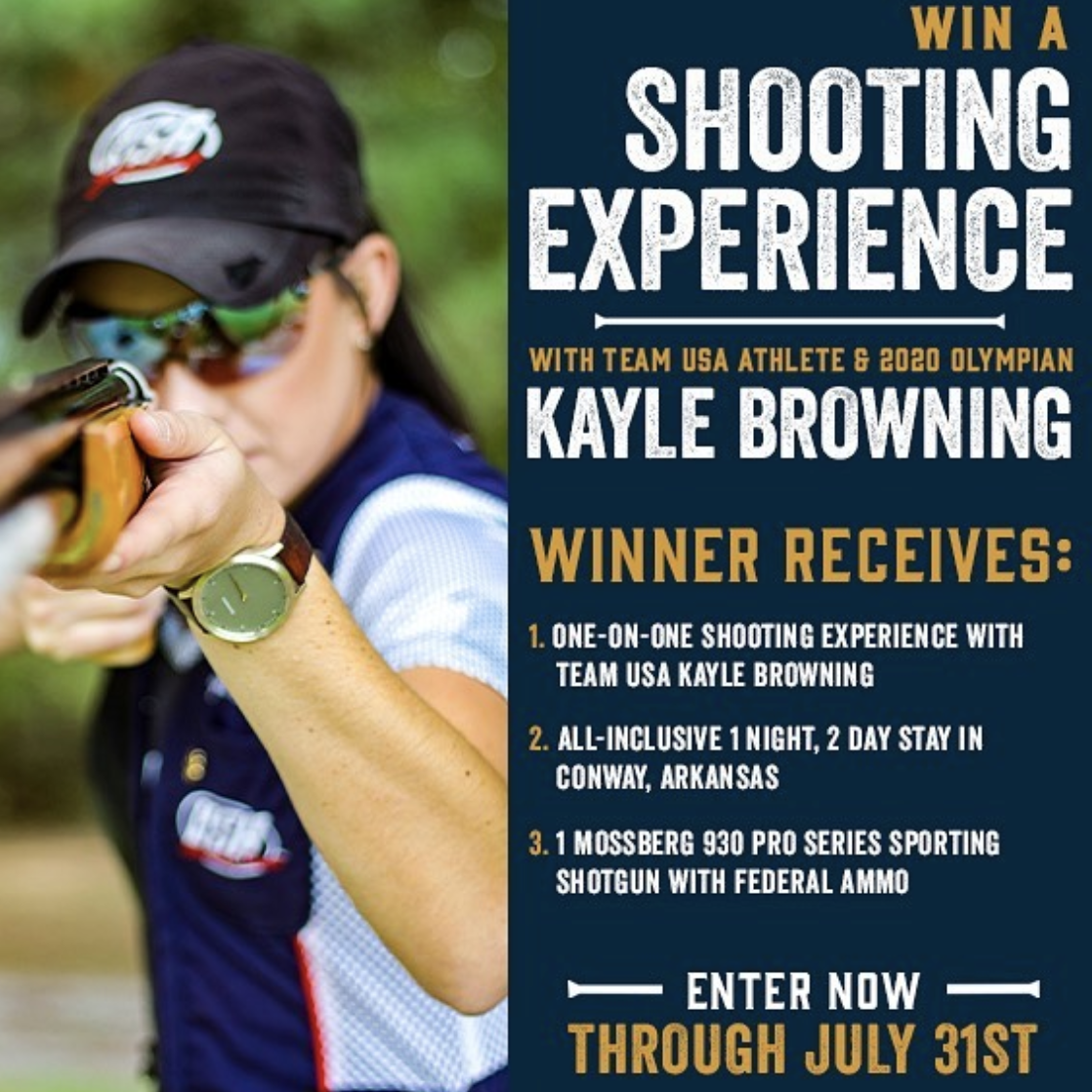 Don't miss your chance to win a one-on-one shooting experience with an Olympian. Head over to @usabrowningk's Instagram post for details. . . . . . #shotgunsports #clayshooting #sportingclays #trapshooting #skeetshooting #shootingcoach #olympicathlete #womenwhoshoot #entertowinpic.twitter.com/mEqHCD1kyx