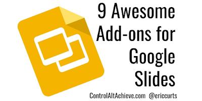 9 Awesome Add-ons to Supercharge Google Slides controlaltachieve.com/2018/02/slides… #GSuiteEDU #ControlAltAchieve