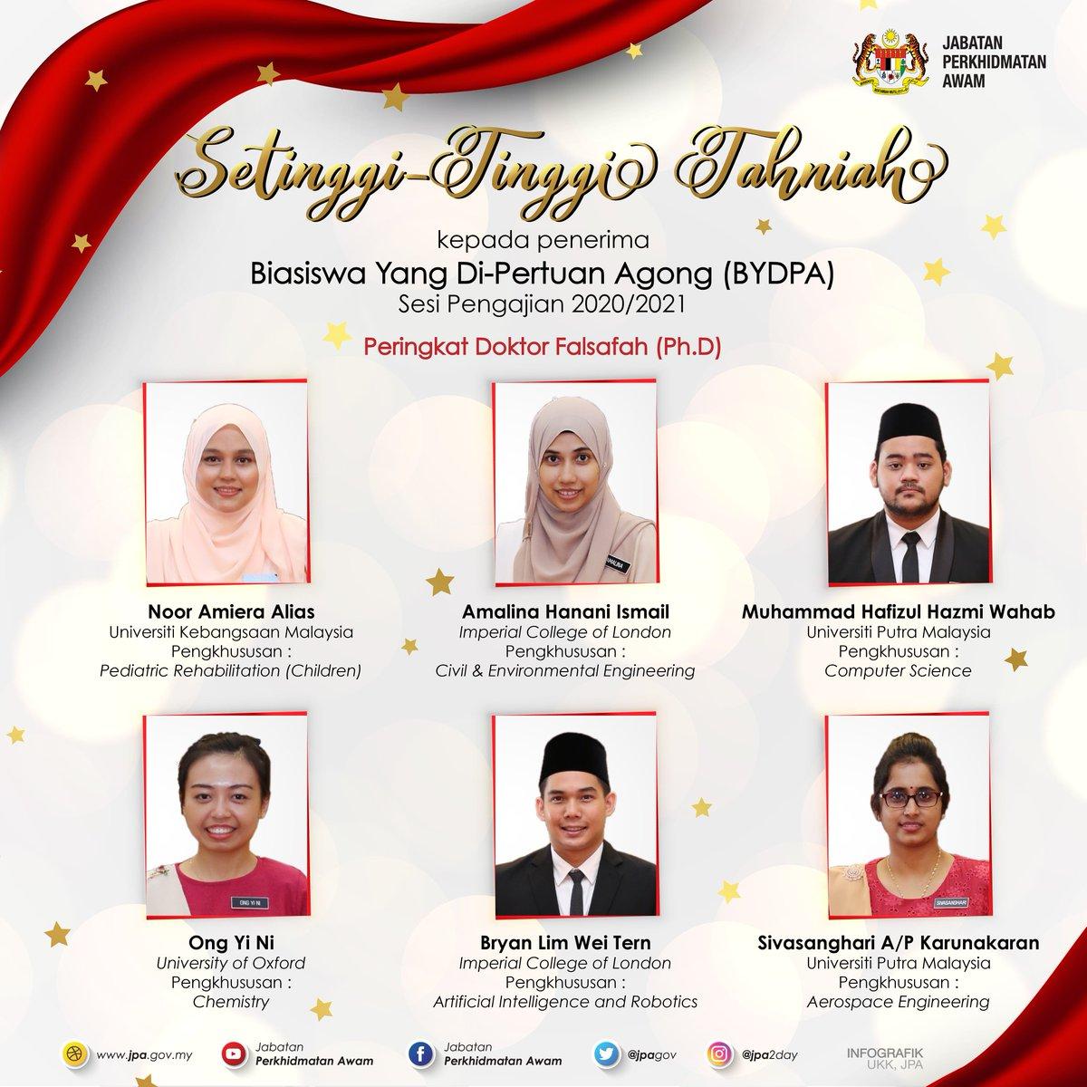 Jab Per Awam Jpa On Twitter Majlis Penganugerahan Biasiswa Yang Di Pertuan Agong Sesi Pengajian 2020 2021 Kredit Video Istana Negara