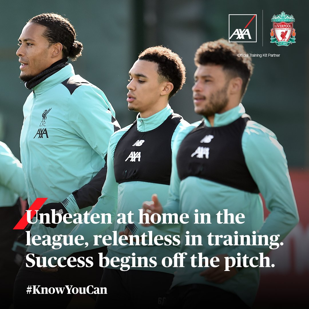 Congratulations team! Undefeated at Anfield for a whole season. Well done guys - you're inspiring us all.  AXA #OfficialTrainingKitPartner of @LFC #LFC #Training #WinningMentality https://t.co/sEGbWHC5IY