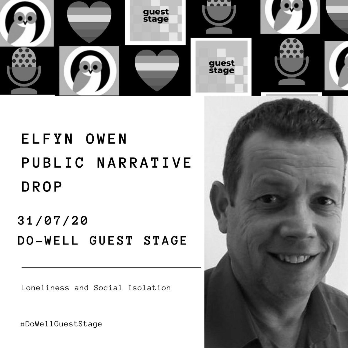 We can't wait to welcome @Elfyn_Canllaw to our #DoWellGuestStage next Friday 31/07/20 he's a man on a mission and we'd encourage anyone bothered by #loneliness and #socialisolation to hear what he has to say. Reserve a 10 minute space in your diary.