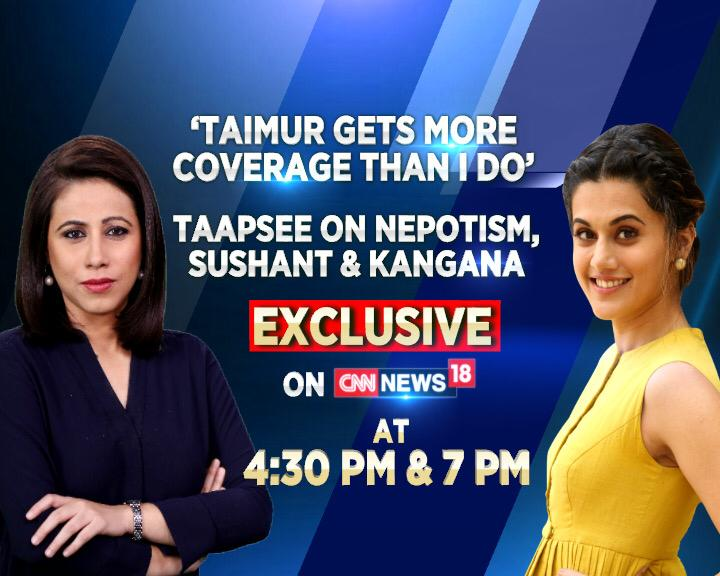 #EXCLUSIVE - Join @taapsee in conversation with @maryashakil at 4:30 PM and 7 PM only on CNN-News18.