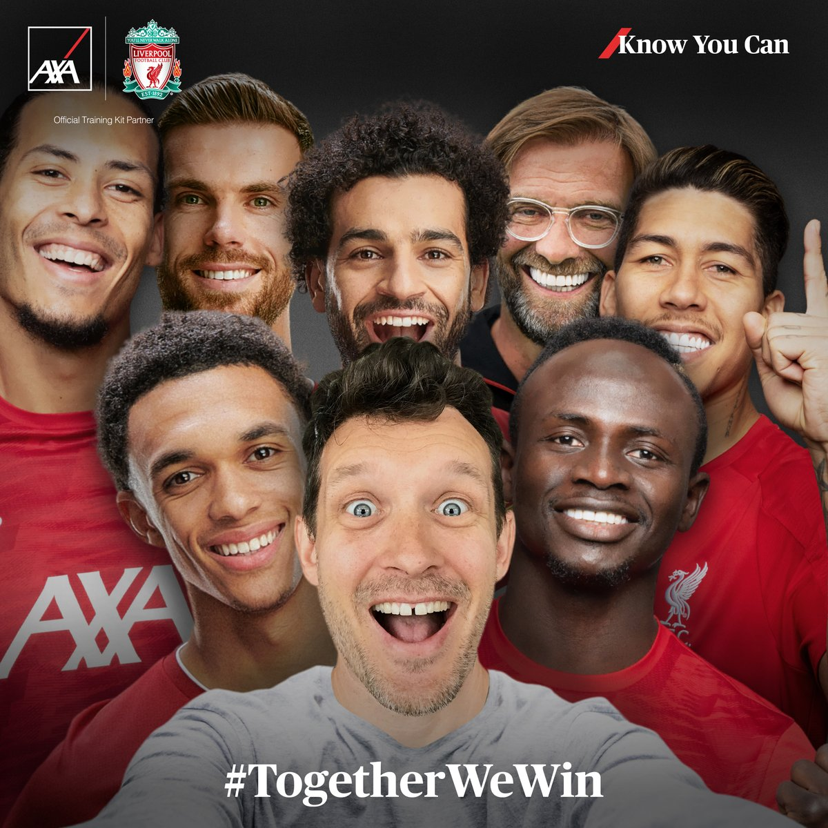 As the Official Training Kit Partner of @LiverpoolFC we are giving fans across the world the chance to take a selfie with the Champions! Find out more at https://t.co/dW0eks7rG8 and then share your selfie using #TogetherWeWin #KnowYouCan #AXA #OfficalTrainingKitPartner #LFC https://t.co/2PtbnMc5W6