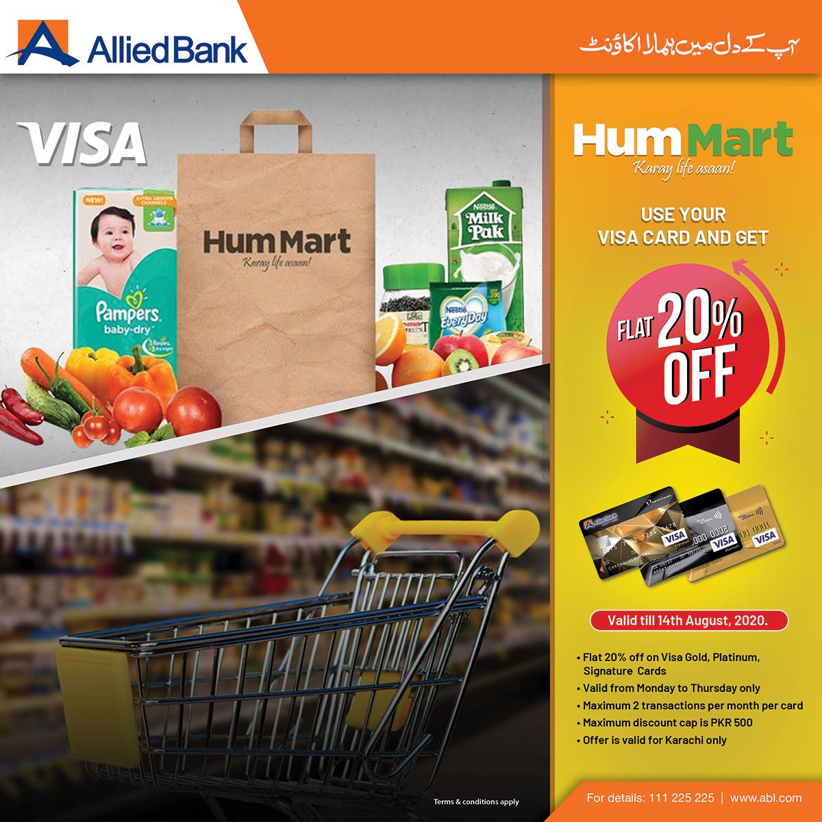 Karachiites can now avail flat 20% discount with ABLs VISA Gold Credit card, VISA Platinum Credit card & VISA Premium Debit card.  Terms & Conditions apply. For details: https://t.co/Njcqgo67BW  #cardoffers #ABLDiscounts #CardDiscount #Discounts #DebitCard #CreditCard https://t.co/6KEFtbcRVp