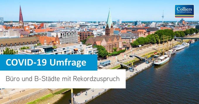 93 Prozent der im Juli befragten Investoren haben Büroimmobilien in Deutschland weit oben auf ihren Ankaufslisten. Allen Diskussionen um die Zukunft des Home Office zum Trotz sind das sogar 5 Prozent mehr als vor der Corona-Krise. #Immobilien Mehr hier: t.co/jYSqJMDx6N