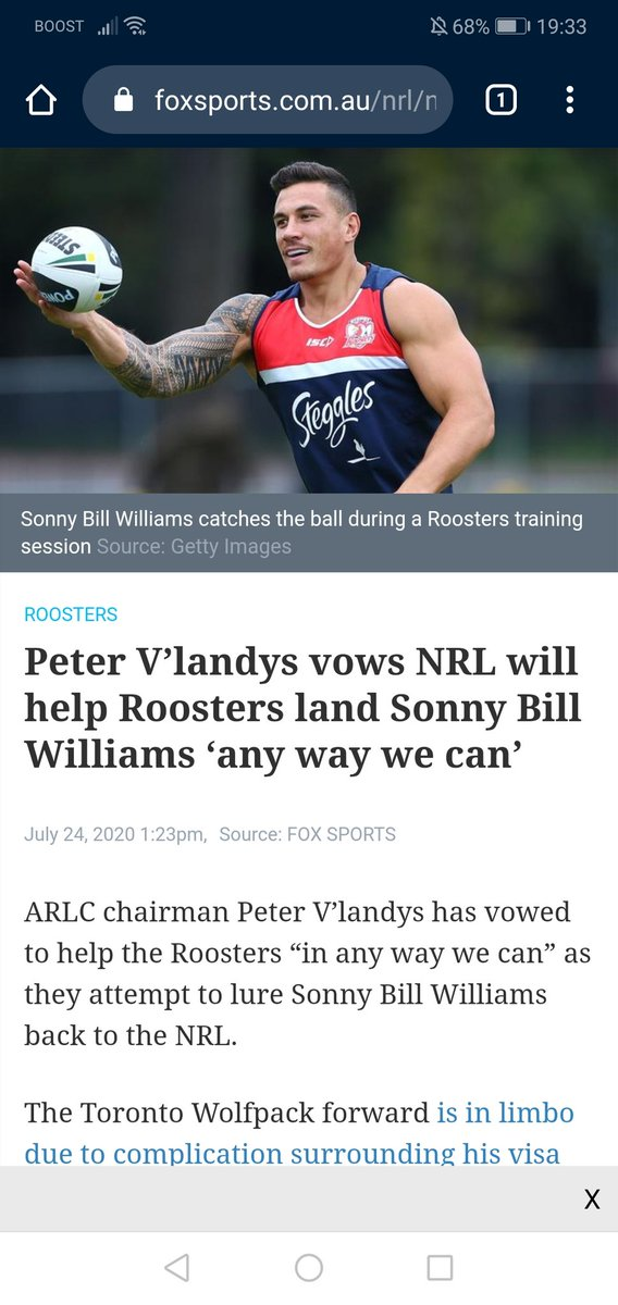 Nice of any team needs some help from the @NRL is it is Roosters... #NRL https://t.co/DZGu82q8IW