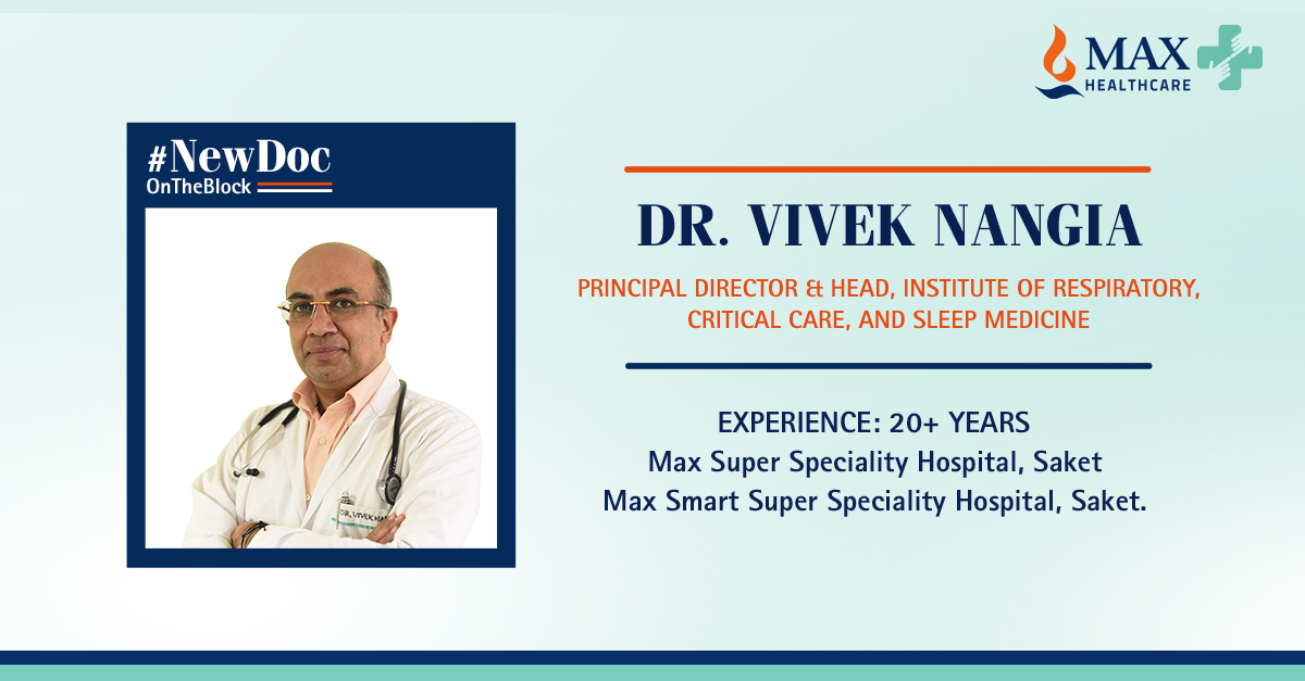 Dr. Vivek Nangia is an internationally renowned doctor and researcher in Respiratory, Critical Care, and Sleep Medicine. He brings decades of expertise to Max Saket. Book an appointment with our #NewDocOnTheBlock at https://t.co/zPunXKlj21 https://t.co/MX3akRl60F