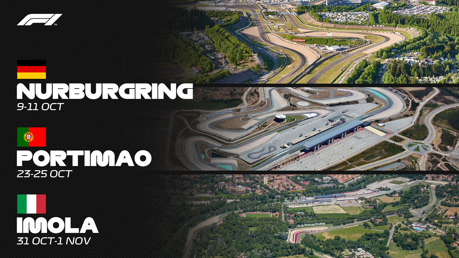 F1 Adds 3 New Races