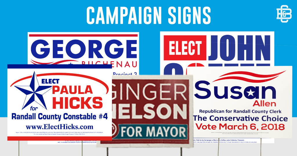 Increase name recognition and create momentum for your campaign with yard signs from C&B! Custom sizes and shapes available - order now to get them out before the Fall elections. Call 374-6262  #campaignsigns #yardsignspic.twitter.com/zgfr7KArv1