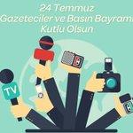 Image for the Tweet beginning: 24 Temmuz Gazeteciler ve Basın