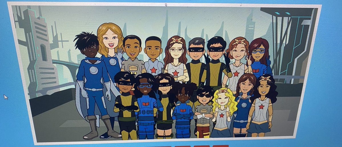 Introducing my class of super heroes! Check out our avatars for #spiritday ... I love how you can customize your avatars using @Pixton 🤩@TWPublicSchool @MauroPaluzzi #pixton #tech #inclusive