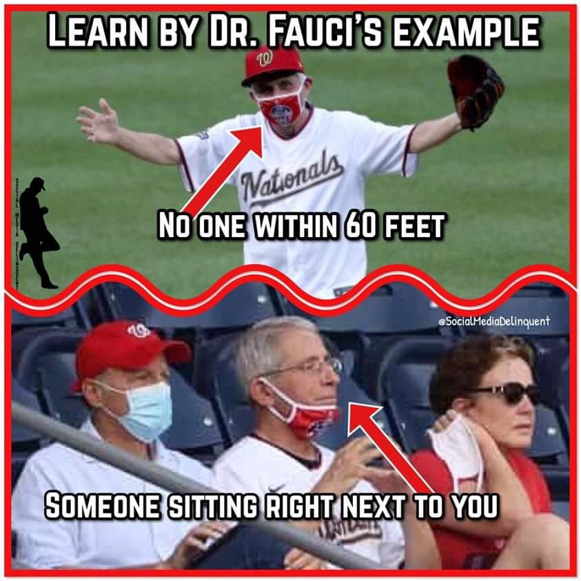 An0maly On Twitter Here S Science With Dr Fauci Baseball Game For Him Not You