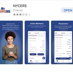 Image for the Tweet beginning: NYCERS has developed an app