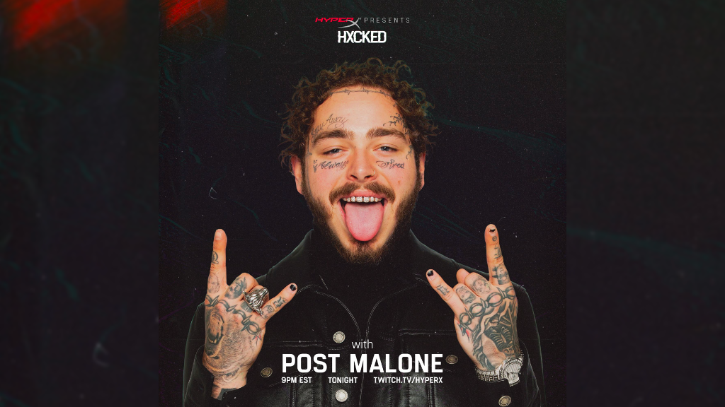 We gave @PostMalone our Twitch login, and were not quite sure what to expect. Were going live TONIGHT at 9PM EST for our first episode of #HXCKED! ▶ twitch.tv/hyperx