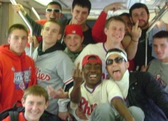 Here's to another phils season. From me and my friends acting a fool on the el #ripquan pic.twitter.com/pmqsJV4TvA