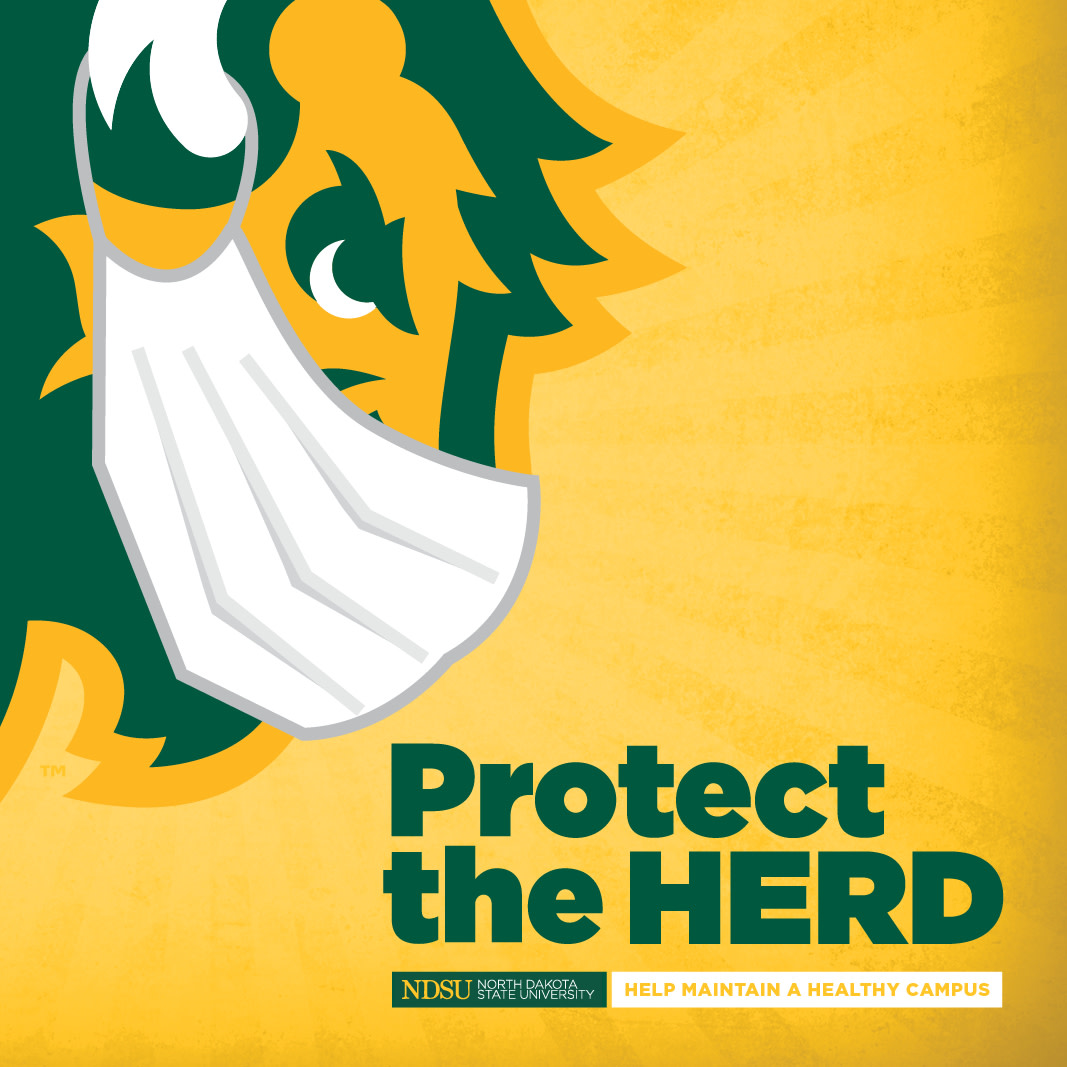Students and employees are encouraged to #ProtecttheHerd by taking a Covid-19 test. It's free, easy and available to all @NDSU students and employees. https://t.co/bM6QoxETLt https://t.co/3GrQYtEIoY