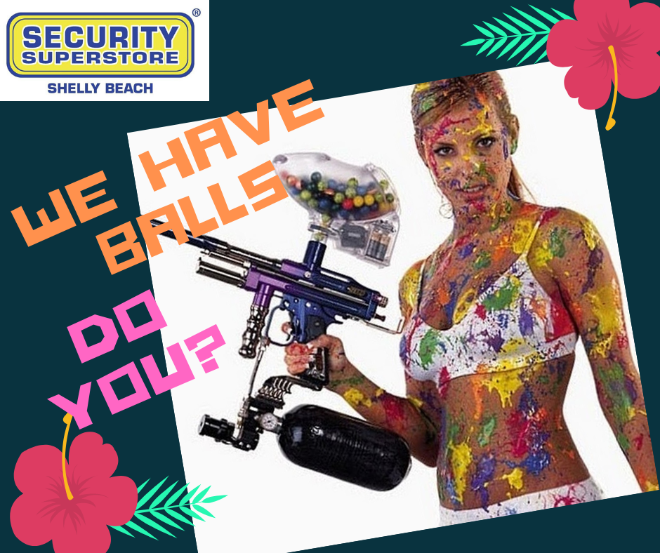 Paint balls, airguns and accessories now available! Stop by @ Security Superstore Shelly Beach for the best prices in town. #SecurityMadeEasy #SecuritySuperstoreShellyBeach  WE HAVE BALLS, DO YOU?pic.twitter.com/DQu3fwHu3A