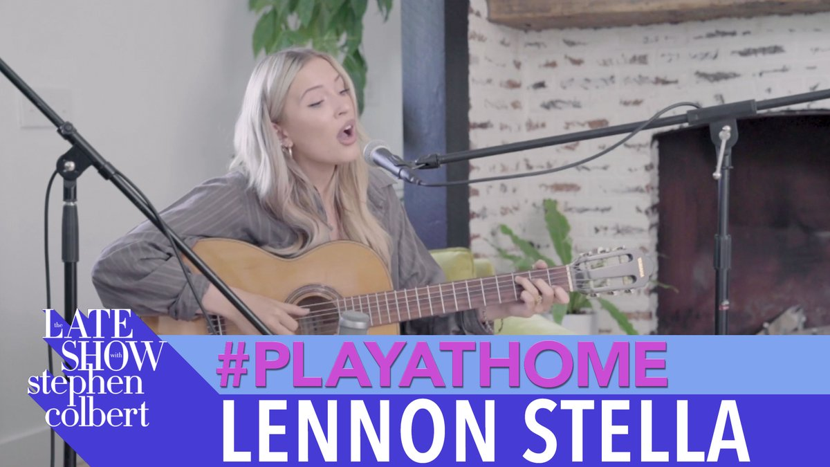 """.@lennonstella performs """"Kissing Other People"""" in her Late Show debut! #PlayAtHome"""