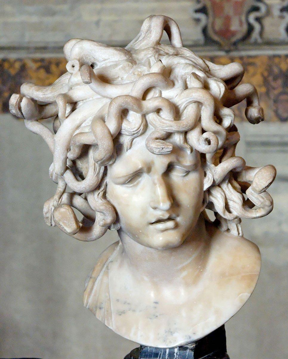 """Greek Mythology on Twitter: """"Medusa was one of the three Gorgons, daughters  of... #medusa #myths https://t.co/4et0pkGX17… """""""
