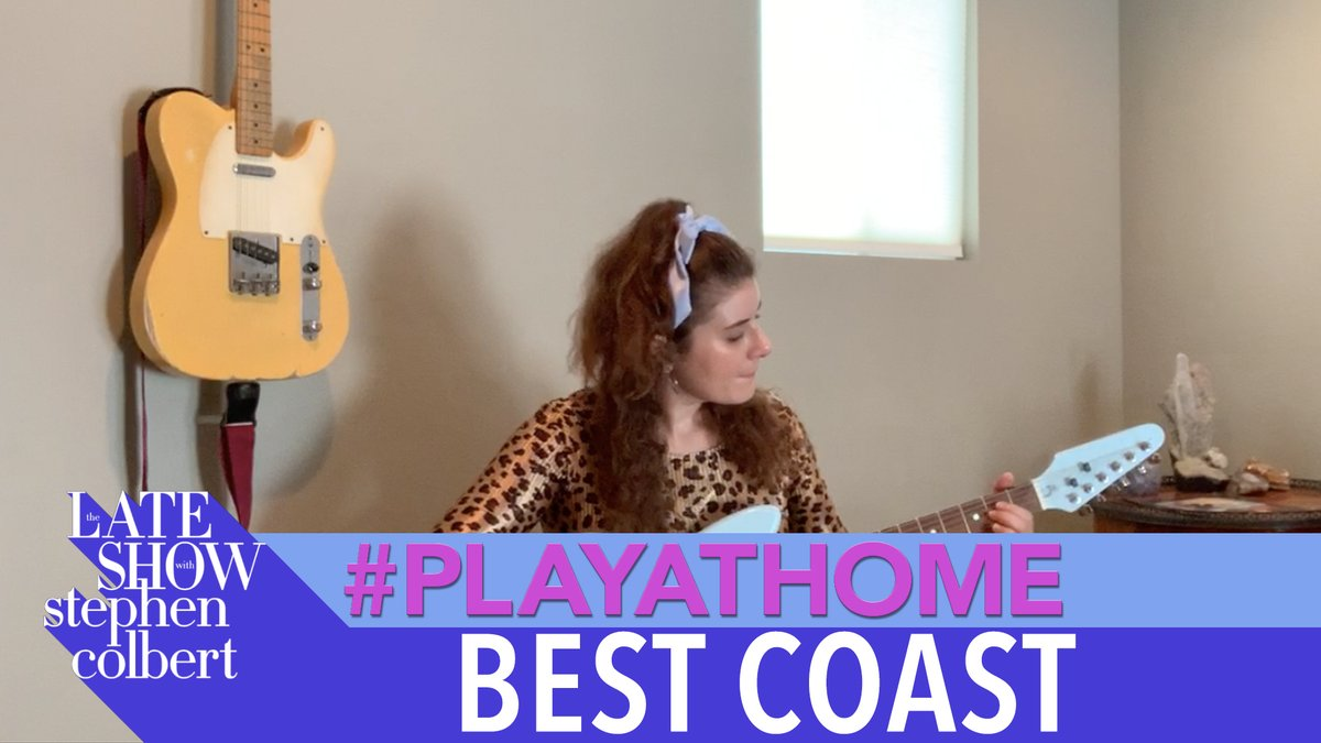"""Bethany Cosentino of the rock duo @BestCoast performs """"Rollercoaster"""" for A Late Show's #PlayAtHome series! #LSSC"""