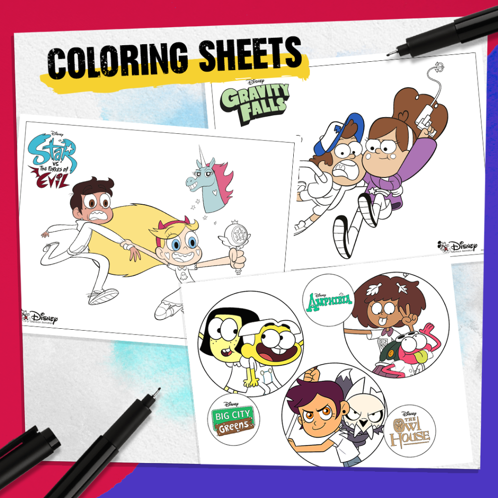 Disney Tva On Twitter Hone Your Craft With These Printable Coloring Sheets Featuring Your Faves From Theowlhouse Bigcitygreens Amphibia And More Download Them Here Https T Co Gouyjbnegj Https T Co Klwsdmpkvi