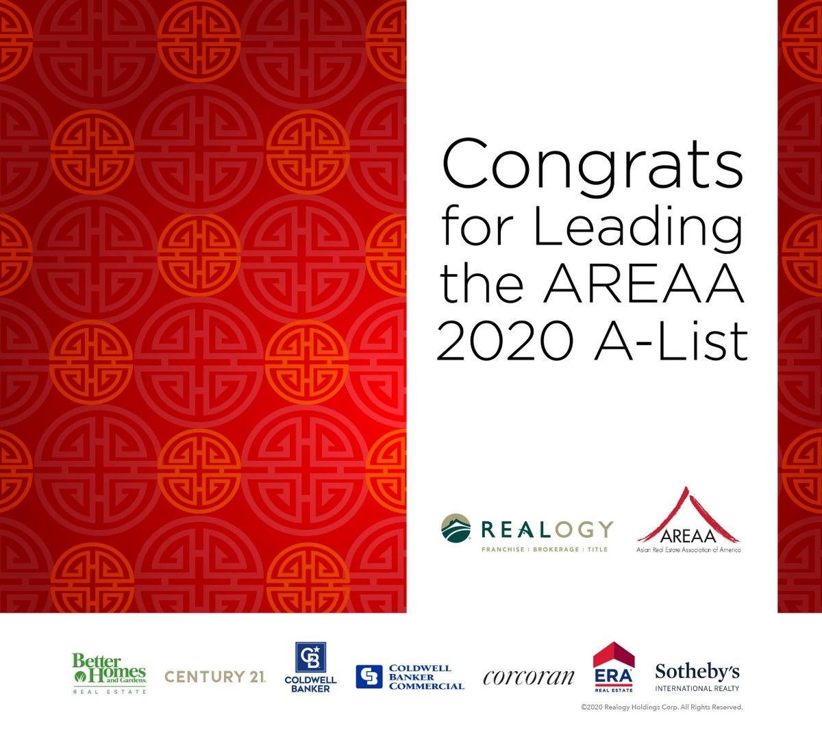 Congratulations to all of our affiliated agents who lead the @areaa 2020 A-List! https://t.co/3Z7PVZai9J @BHGRealEstate @CENTURY21 @coldwellbanker @sothebysrealty https://t.co/C6qvespY8M