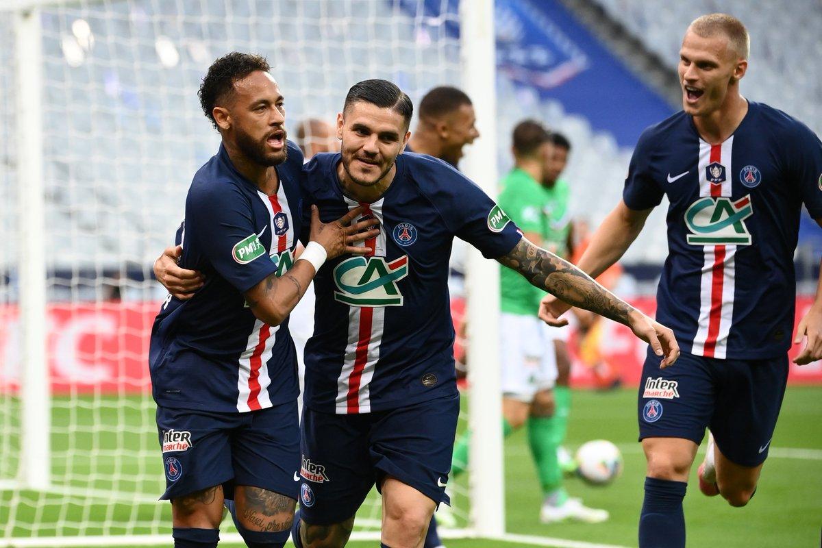 PARIS 1-0 ST-ÉTIENNE  Paris remporte la 13e Coupe de France de son histoire ! 🏆🇫🇷  #CôtéFoot #SportEcoleDeVie #PSGASSE https://t.co/1WZmkG0FYG