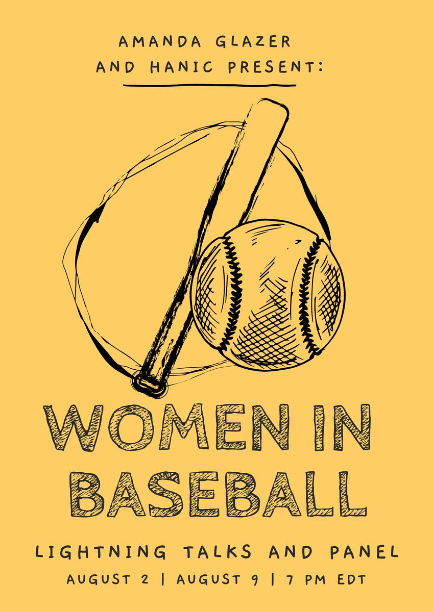 🚨⚾️FINALIZED WOMEN IN BASEBALL LINE UP⚾️🚨  SIGN UP HERE (Sun. Aug 2 & 9 @ 7 PM EDT): https://t.co/lvZ83g6AYL  https://t.co/8MncjhMzIA  #HANIC @MeghanChayka @AlisonL @emweecurt @LaMessicana @_rachelbalkovec @jessmendoza @glitter_corpse @RealSlimBlady #womeninsports #baseball https://t.co/GF3YTKbtK1