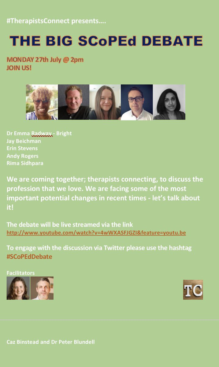 Hey all #TherapistsConnect and #traineetalk :  1. Please do feel free to join us this Monday 😊 2. We would be most grateful if you could share posters with all your colleagues/networks/Facebook groups etc. Thank you 🙏 https://t.co/paN4wRGK0A
