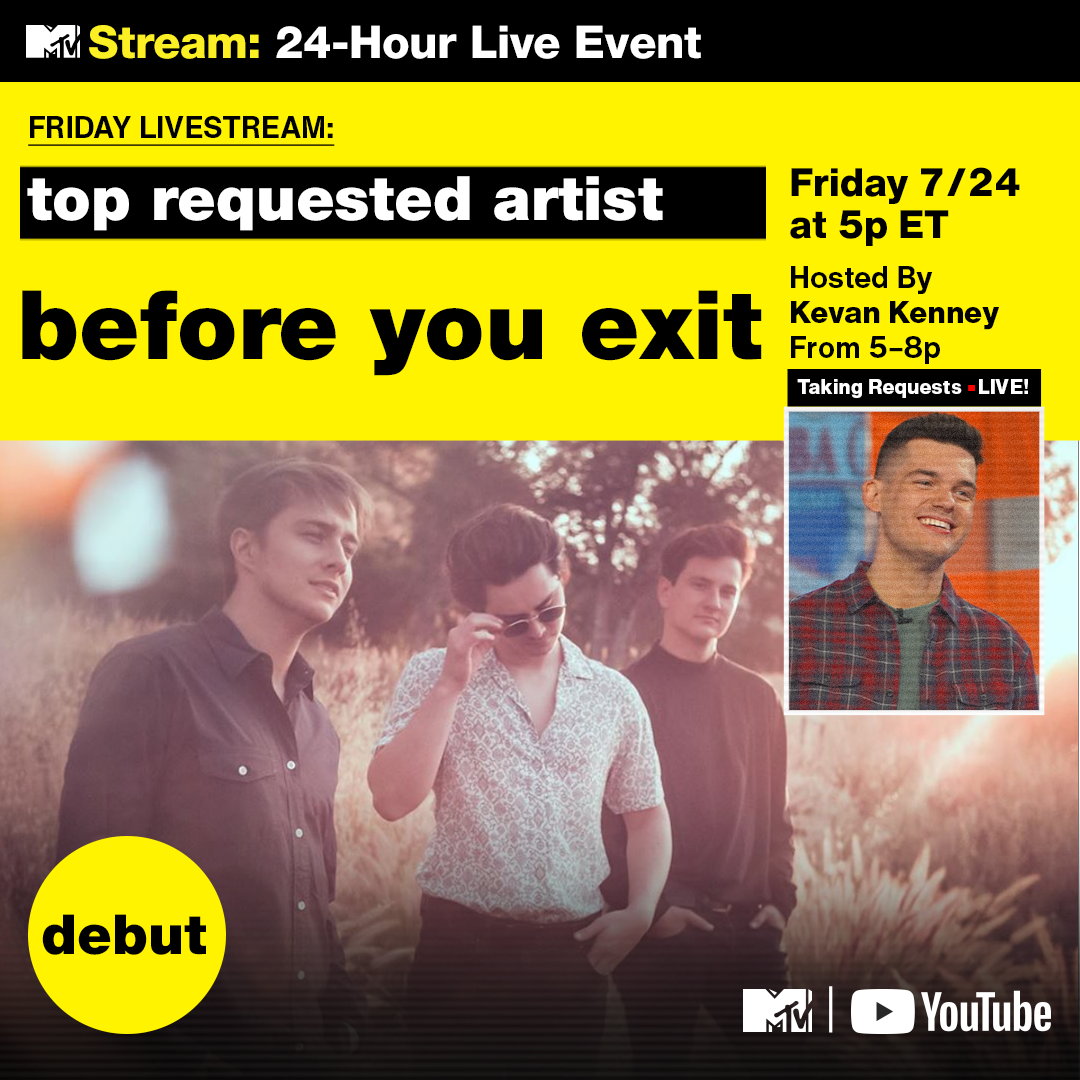 Congratulations to @beforeyouexit for their @MTV #FridayLivestream debut.  👉https://t.co/tjX9vH2UYk https://t.co/CZR0Zqbjan