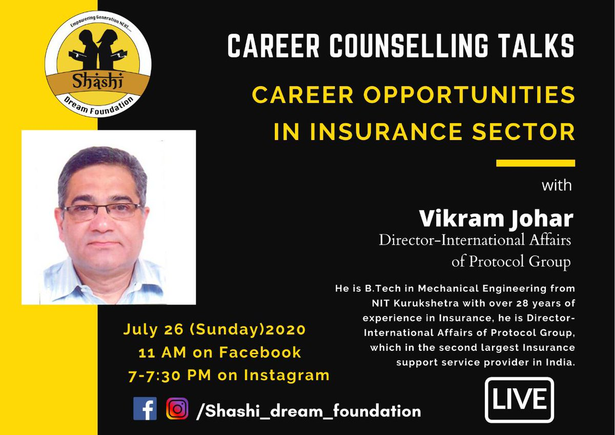 Shashi Dream Foundation On Twitter Like Death And Taxes Insurance Has A Long History Dating All The Way Back To 1347 In Genoa Italy And Its Need Is A Sure Thing Join Our Next Live Career