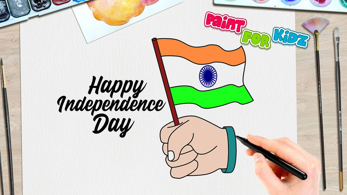 Paint For Kidz On Twitter India Happy Independence Day Drawing Easy Simple Drawing For Kids Paint For Kidz Watch The Making Video Https T Co Mv3n07xluy Paintforkidz India Independenceday Happyindependenceday Drawingforkids Easydrawings