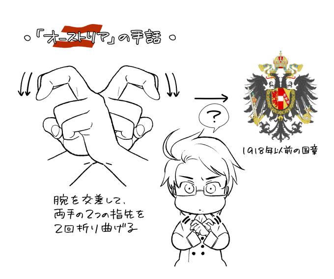 "IKE على تويتر: ""『オーストリア』の国名を表す手話について。(国際的 ..."