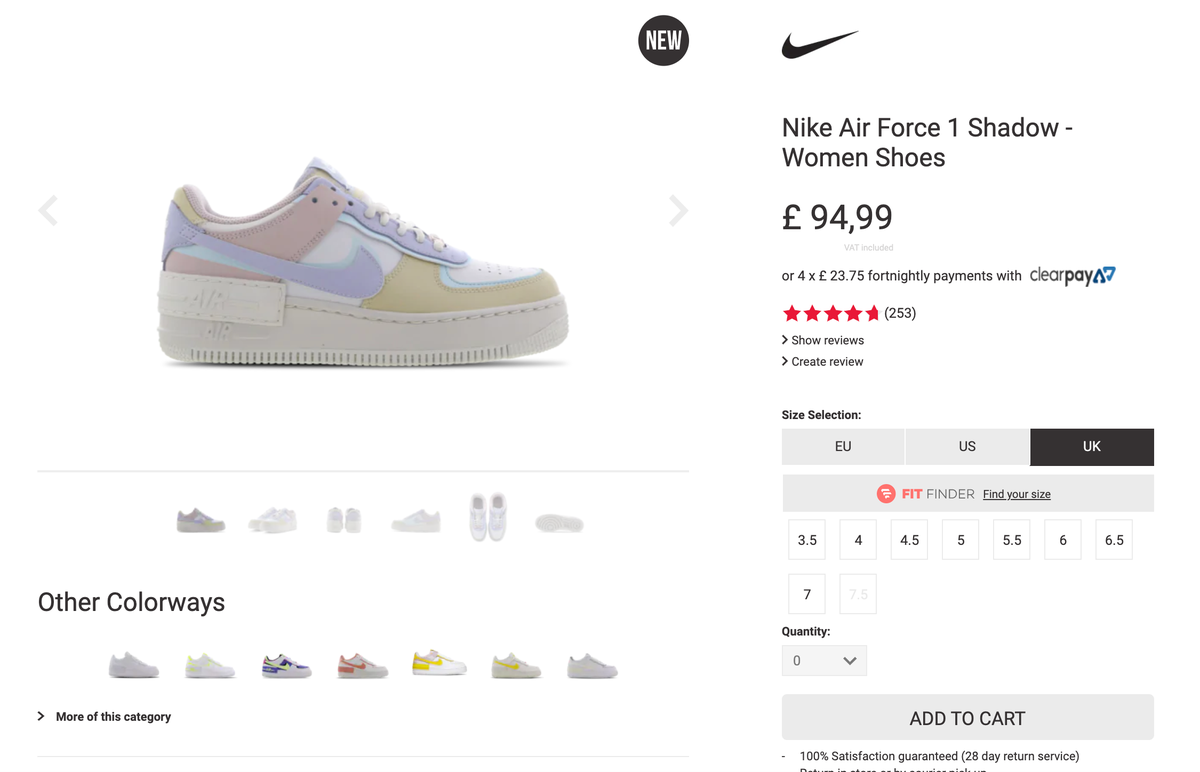 The Sole Womens On Twitter Nike Air Force 1 Shadow Pastel Full