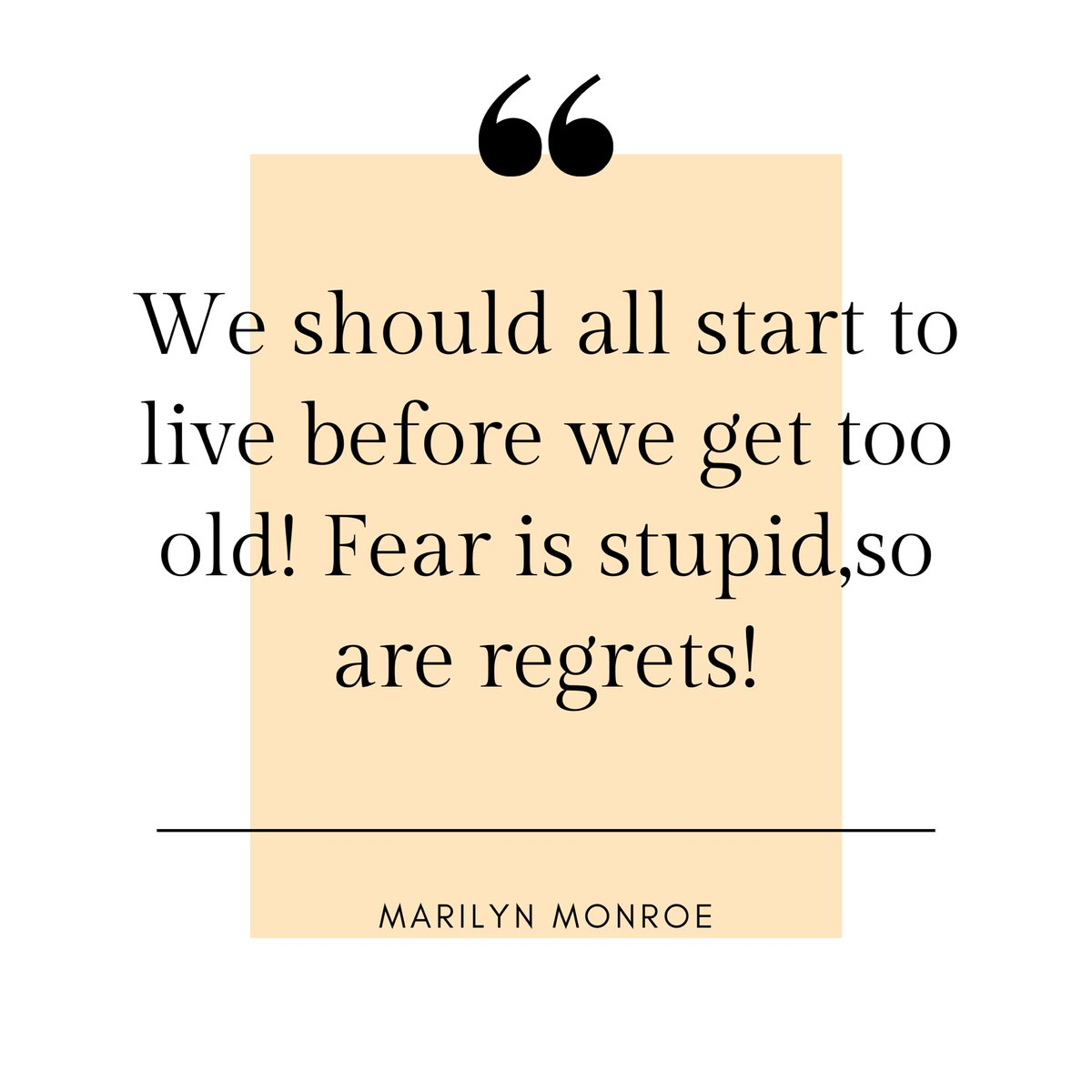 Maybe #Marilyn didn't want to get older but she definitely became #immortal with her acts and films. She was both #fearful and #fearless🌟 . . . . We only have #now right? So Don't let fear imprison you!  #bebold #nofear #livenow #quoteoftheday #mottooftheday #events#motivation https://t.co/7aruJmpNUS