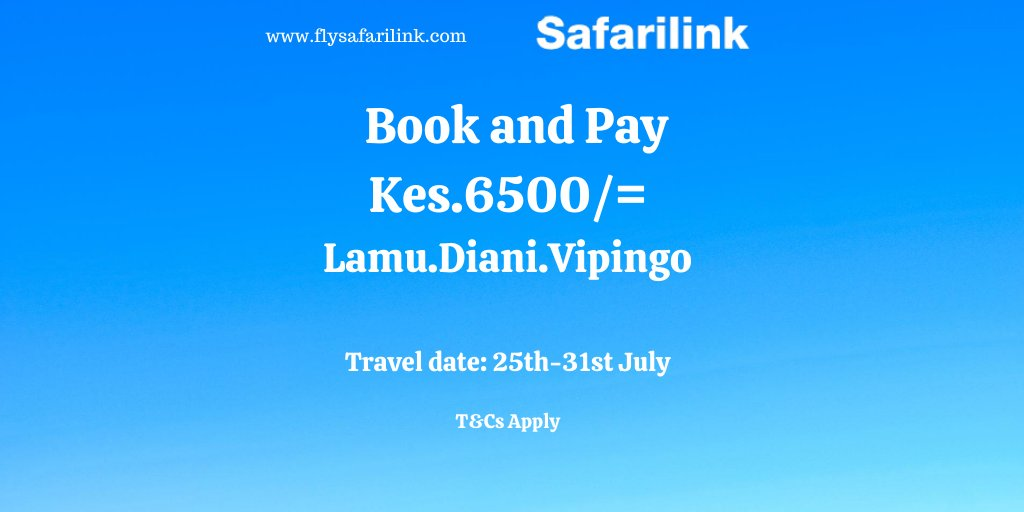 Flash sale!  The sound of the beach is simply soothing and peaceful. For just Ksh 6500/= one-way, you and your family can enjoy the beach sooner. Best decision ever, book this weeken for travel between(25th – 31st July)  Book now @ https://t.co/u96TCSgHfG.T&Cs apply. https://t.co/S3dHzO90Pz