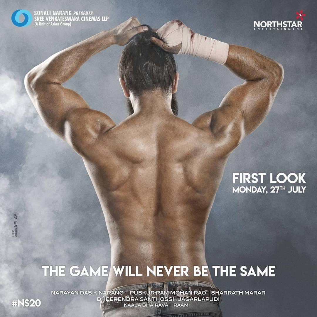 Here is the Marvelous prelook of @iamNagaShaurya's next. Be ready to get stunned with the first look of #NS20 releasing on Monday, 27th July! @nseplofficial @SVCLLP @sharrath_marar @IamNagashaurya @Santhosshjagar1 @RaamDop @kaalabhairava7 @EditorJunaid #NS20 #NS20Prelook